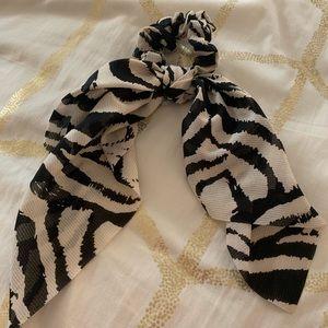 Anthropologie Zebra Print Hair Scarf